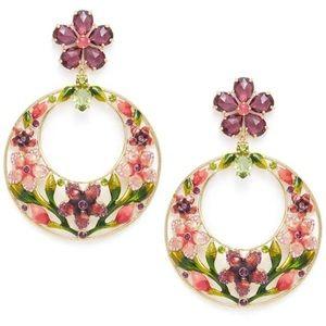 $128 Kate Spade berry floral hoop Earrings